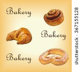 bakery set with colorful... | Shutterstock .eps vector #367155128