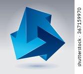 impossible shape  unreal arrows ... | Shutterstock .eps vector #367159970