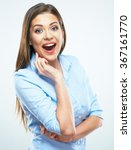 surprised business woman... | Shutterstock . vector #367161770