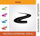 vector icon of road sign with...