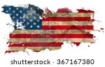 Grunge American Flag Isolated...