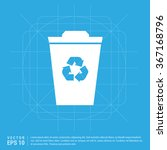 vector recycle bin  icon | Shutterstock .eps vector #367168796