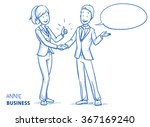happy young woman in business...   Shutterstock .eps vector #367169240