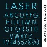 vector blue glass reflect laser ... | Shutterstock .eps vector #367170233