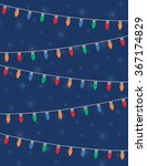 holiday lights and stars over... | Shutterstock .eps vector #367174829