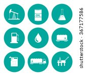 oil and petroleum icon set.... | Shutterstock .eps vector #367177586