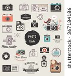 photographer  cameras  photo... | Shutterstock .eps vector #367184186