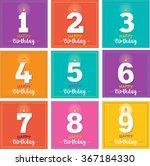 happy birthday greeting card... | Shutterstock .eps vector #367184330