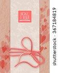 i love you. postcard design | Shutterstock . vector #367184819