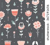 seamless pattern with cute... | Shutterstock .eps vector #367191656