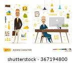 business characters scene | Shutterstock .eps vector #367194800