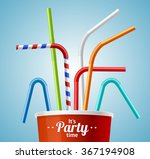 Drinking Straws And Cup Party...