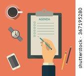 agenda list concept vector... | Shutterstock .eps vector #367195280