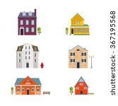 colorful flat residential... | Shutterstock .eps vector #367195568