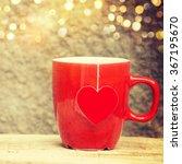 cup of tea with heart teabag | Shutterstock . vector #367195670