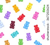 seamless colorful gummy bears... | Shutterstock .eps vector #367202624