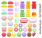 set of different sweets on...   Shutterstock .eps vector #367202669
