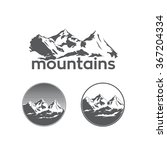 mountains in sketch style on...   Shutterstock .eps vector #367204334