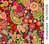 Hippie Wallpaper With Colorful...