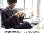 a man using mobile smart phone | Shutterstock . vector #367206848