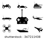 black remote control toy icons... | Shutterstock .eps vector #367211438