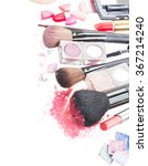 mix of  make up brushes ... | Shutterstock . vector #367214240