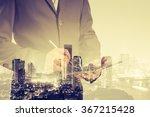 double exposure of success... | Shutterstock . vector #367215428