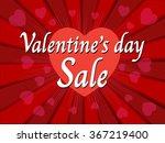 valentine's day sale  wording... | Shutterstock .eps vector #367219400