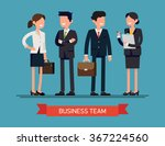 business team vector concept... | Shutterstock .eps vector #367224560