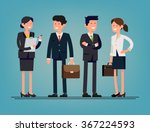cool flat design corporate... | Shutterstock .eps vector #367224593