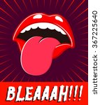 bleah  mouth sticking out... | Shutterstock .eps vector #367225640