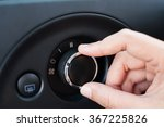 hand turning dial button of air ... | Shutterstock . vector #367225826