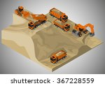 vector isometric illustration... | Shutterstock .eps vector #367228559