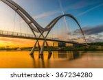 Blurred Infinity Bridge At...