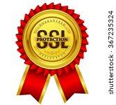 ssl protected golden vector...   Shutterstock .eps vector #367235324