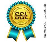 ssl protected golden vector...   Shutterstock .eps vector #367235330
