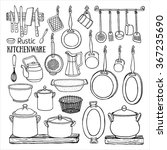 hand drawn vector set of ... | Shutterstock .eps vector #367235690