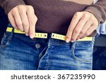a young man with a measuring... | Shutterstock . vector #367235990