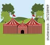 spectacular circus show design  | Shutterstock .eps vector #367238969