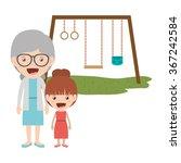 happy grandparents design  | Shutterstock .eps vector #367242584