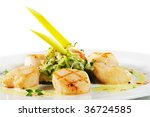 grilled sea scallop with... | Shutterstock . vector #36724585