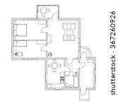 house interior. black and white ...   Shutterstock .eps vector #367260926