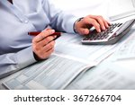 Small photo of Hands of accountant business woman with calculator.