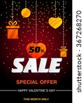 valentine's day poster. design... | Shutterstock .eps vector #367268270