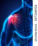 painful shoulder illustration | Shutterstock . vector #367268426