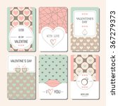 cards valentines day. | Shutterstock .eps vector #367279373