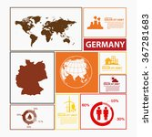 germany map infographic | Shutterstock .eps vector #367281683
