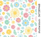 Stock vector pattern flowers 367289468