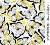 pattern butterfly   Shutterstock .eps vector #367292690