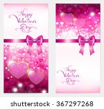 two bright vertical valentine... | Shutterstock .eps vector #367297268